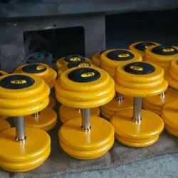 Neoprene and PVC Fixed Weight Cast Iron Gym Dumbbell. 140 per kg