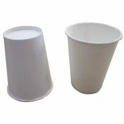 White Plain 330ml Paper Glass, Size: 330 Ml