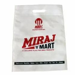 Promotional Printed Non Woven D Cut Bag, Capacity: 5Kg, Thickness: 30 Gsm