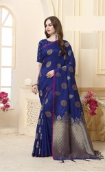 Banarasi Silk Weaving Saree With Unstitched Blouse