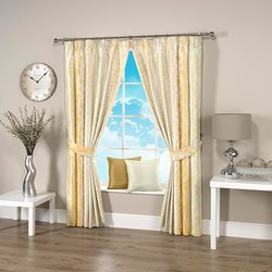 Dotted Cream Curtain