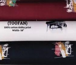 Toofan 100% Cotton Dobby Print Shirting Fabrics
