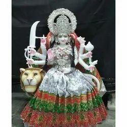 Marble Decorative Durga Statue