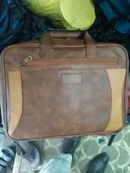 Brown Leather Hand Bags, For Casual Wear