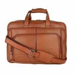 Plain Brown Promotional Leather Bag