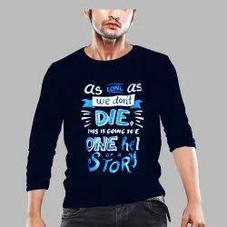 As Long As We Can Die Men's Full T Shirt, Size: Medium