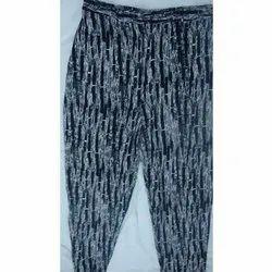 Ladies Printed Hoseiry Pencil Pant