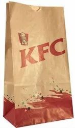 Premium EcoWraps - KFC Brown Kraft Paper Bags - 8.5x4.5x13 Inches