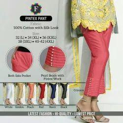 F Ladies Pintex Cotton Pant