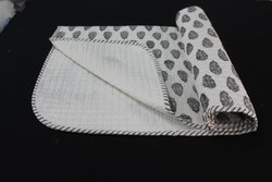 Hand Block Printed Baby Quilt