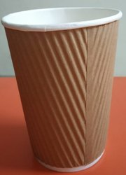 Brown Plain Paper Coffee Cup for Event and Party Supplies, Features: Disposable
