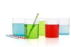 Transparent Plastic Saga Glass Color Full 300 Ml, For Drinking, Size: Diameter 76 Mm 95 Mm Height