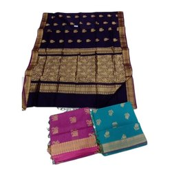 6.3 Meter Party Wear Ladies Banarasi Silk Saree, With Blouse Piece