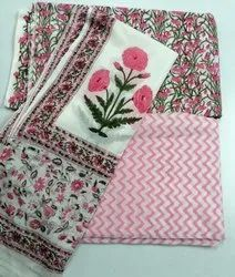 Meera's Hand Block Printed Cotton Suit Set