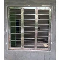 Modern Silver Stainless Steel Window, For Home