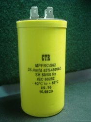 25 MFD / 450 VAC, 85'C  ( ELECT )  MPPRC/SO2,93x48mm, 25/450AC Capacitor CTR