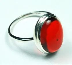 Red Silver Rings