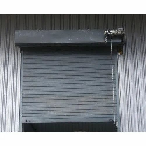 Mild Steel Full Height Automatic Rolling Shutter G.i