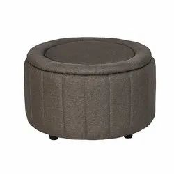 Fonzel Diamond Grey Fabric Ottoman