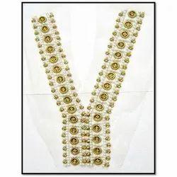 Golden Beaded PVC Sequins