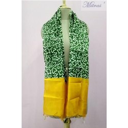 Rectangle Casual Wear Block Printed Silk Stole