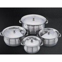 Jumbo Ajanta DTS Stainless Steel Handi Set