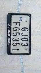 Printed Number Plate Frame