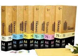 Uncoated Paper Ruchira Coloured A4 75GSM, GSM: 75.0 g/m2, Packaging Size: 500 Sheets per pack