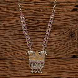 Copper Indo Western Two Tone Bollywood Necklace 100184