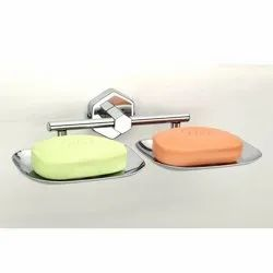 Stainless Steel SS Double Soap Dish, Material Grade: SS304