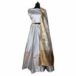 Printed Party Wear Ladies Lehenga, Size: S
