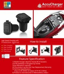 Accucharger Activa Charger, Capacity (Ah): 2.5amp, 200 Gm