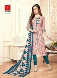 Women Printed Salwar Suit With Dupatta