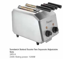 Sandwich Slotted Toaster Two Separate Adjustable Slots