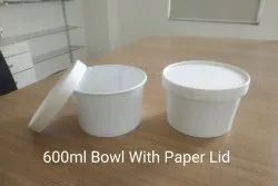 600 ML Bowl With Paper Lid