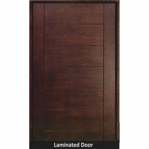 Brown Finished Laminated Door, Size/Dimension: 4-7 Feet