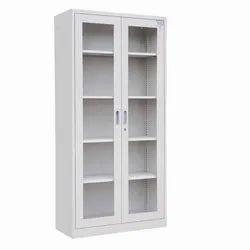 White Glass Door Cupboard