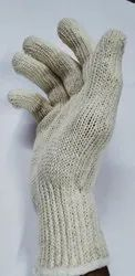 Cotton White Knitted Gloves 40gms