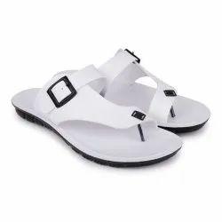 pu Daily Wear White men slipper, Size: 5 To 11