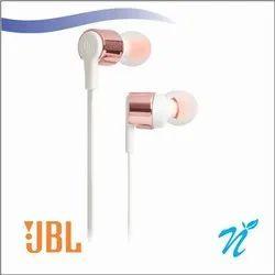 Mobile black and white Wired Earphone (JBL T210 Earphone)