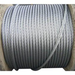 Silver Stainless Steel Elevator Wire Rope, Capacity: 300 kgs