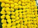 Yellow Artificial Marigold Flower Garland