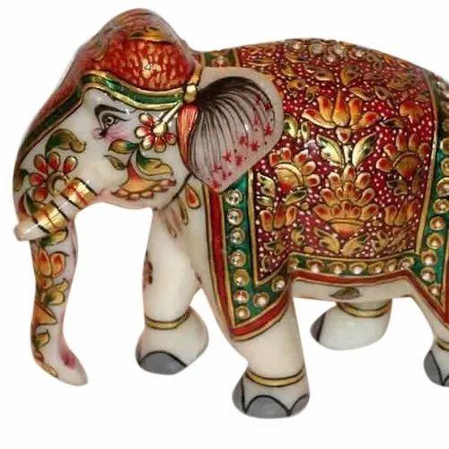 Marble Handicraft Elephant Statue