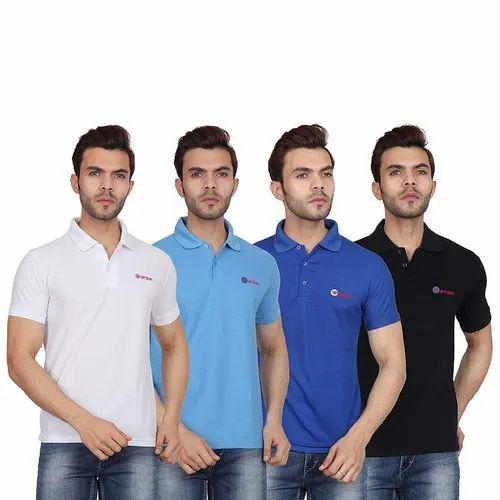0282608045 Mens Polo Neck Cotton T Shirt