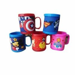 Multicolor Cartoon Printed Plastic Mug, Capacity: 140 Ml