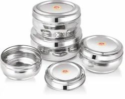 Nirlon Stainless Steel Container(4 Sets)