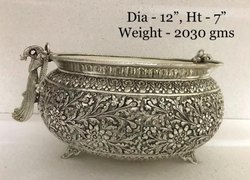 Antique Silver Plated Urli