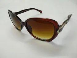 Brown Casual Wear Female Sunglasses