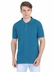 Mens Blue Corporate T Shirt