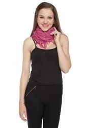 Viscose Lycra Scarves With Fringes
